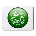 Green recycle symbol Small Mousepad