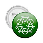 Green recycle symbol 2.25  Button