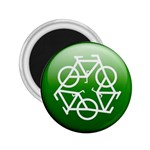 Green recycle symbol 2.25  Magnet