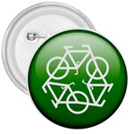 Green recycle symbol 3  Button