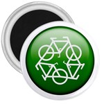 Green recycle symbol 3  Magnet