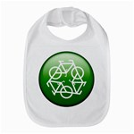 Green recycle symbol Bib