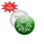 Green recycle symbol 1.75  Button (10 pack)