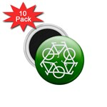 Green recycle symbol 1.75  Magnet (10 pack)