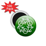 Green recycle symbol 1.75  Magnet (100 pack)