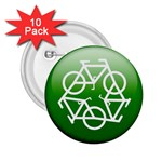 Green recycle symbol 2.25  Button (10 pack)
