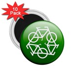 Green recycle symbol 2.25  Magnet (10 pack)
