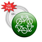 Green recycle symbol 2.25  Button (100 pack)