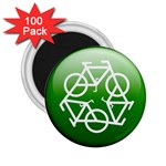 Green recycle symbol 2.25  Magnet (100 pack)