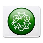 Green recycle symbol Large Mousepad