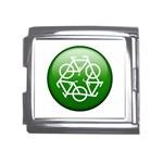 Green recycle symbol Mega Link Italian Charm (18mm)