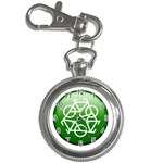 Green recycle symbol Key Chain Watch