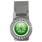 Green recycle symbol Money Clip (CZ)