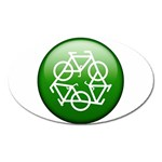 Green recycle symbol Magnet (Oval)