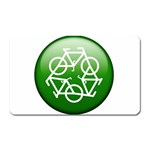 Green recycle symbol Magnet (Rectangular)