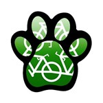 Green recycle symbol Magnet (Paw Print)