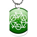 Green recycle symbol Dog Tag (One Side)