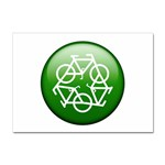 Green recycle symbol Sticker A4 (100 pack)