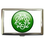 Green recycle symbol Cigarette Money Case