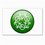 Green recycle symbol Postcard 4  x 6