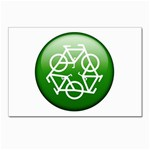 Green recycle symbol Postcard 5  x 7