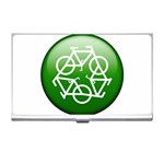 Green recycle symbol Business Card Holder