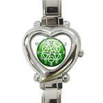 Green recycle symbol Heart Italian Charm Watch