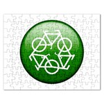 Green recycle symbol Jigsaw Puzzle (Rectangular)