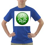 Green recycle symbol Dark T-Shirt