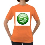 Green recycle symbol Women s Dark T-Shirt