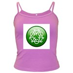 Green recycle symbol Dark Spaghetti Tank