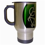 Green recycle symbol Travel Mug (Silver Gray)
