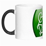 Green recycle symbol Morph Mug