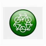 Green recycle symbol Glasses Cloth (Small)