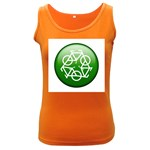 Green recycle symbol Women s Dark Tank Top