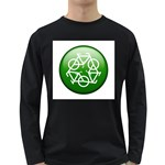 Green recycle symbol Long Sleeve Dark T-Shirt