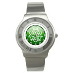 Green recycle symbol Stainless Steel Watch