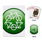 Green recycle symbol Playing Cards Single Design