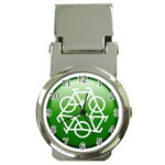 Green recycle symbol Money Clip Watch