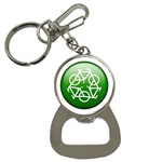 Green recycle symbol Bottle Opener Key Chain
