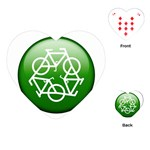Green recycle symbol Playing Cards (Heart)
