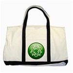 Green recycle symbol Two Tone Tote Bag