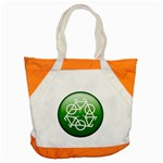 Green recycle symbol Accent Tote Bag