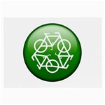 Green recycle symbol Glasses Cloth (Large)