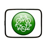 Green recycle symbol Netbook Case (Small)