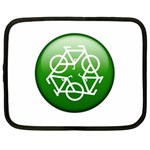 Green recycle symbol Netbook Case (Large)