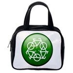 Green recycle symbol Classic Handbag (One Side)