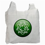 Green recycle symbol Recycle Bag (One Side)