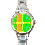 Golf Course Round Italian Charm Watch
