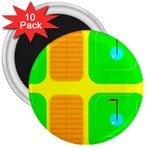 Golf Course 3  Magnet (10 pack)